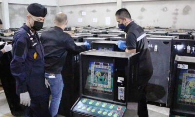 Police Seize Over 400 Slot Machines Linked to Gambling Network