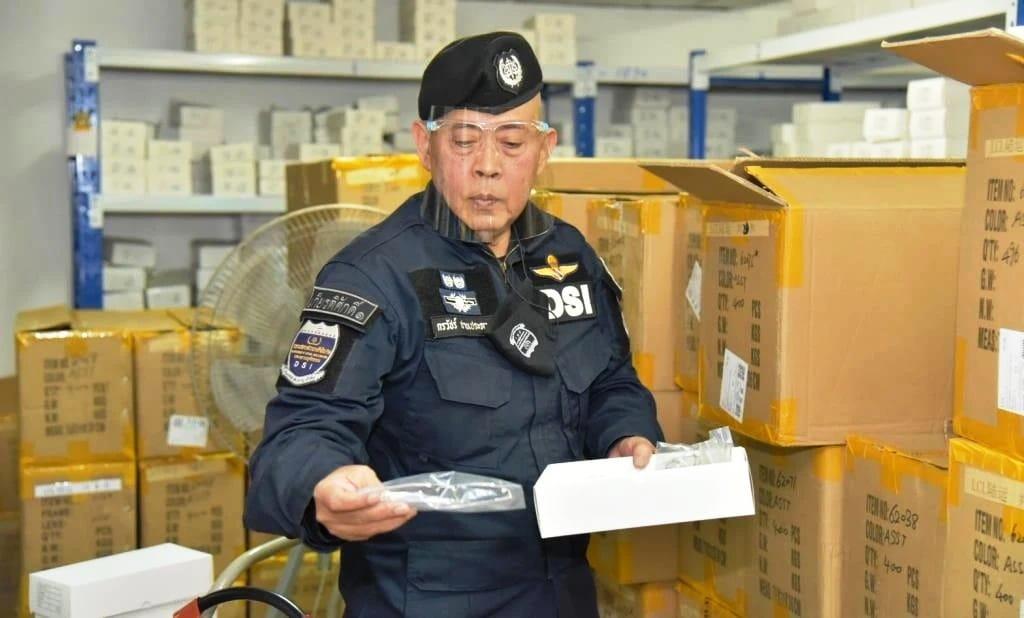 Thai Police Seized Fake Sunglasses worth an Estimated US$10 Million