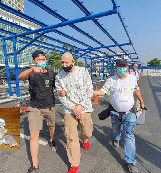 Danish man held on drug charges in Pattaya city