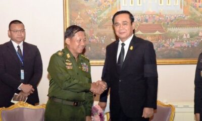 Myanmar Coup Leader Asks Thai Coup Leader for Help on Democracy