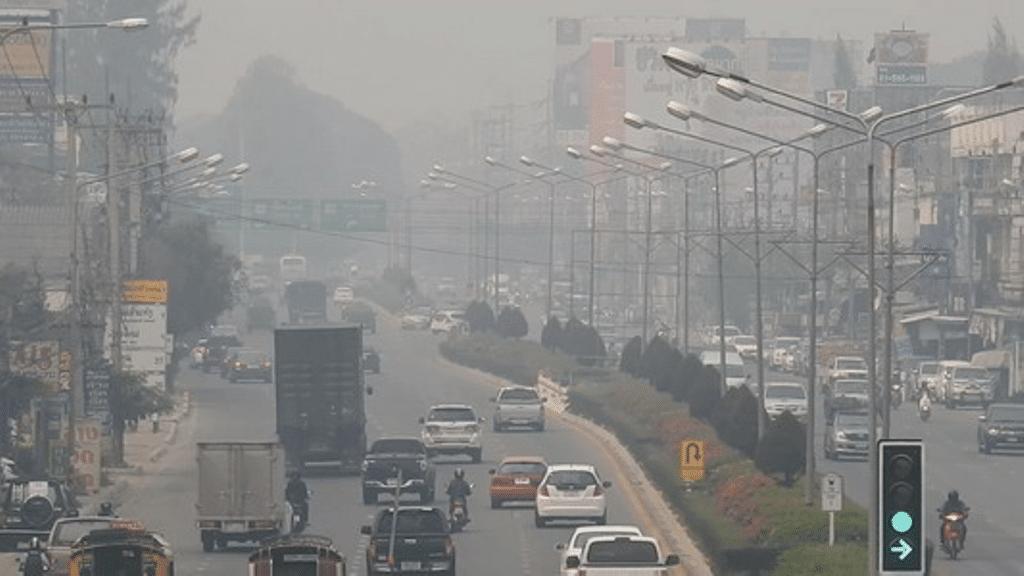 Haze, PM2.5 dust particles, northern Thailand