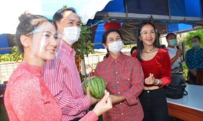 Heart-Shaped Watermelon Auctioned Off for Over Bt100,000