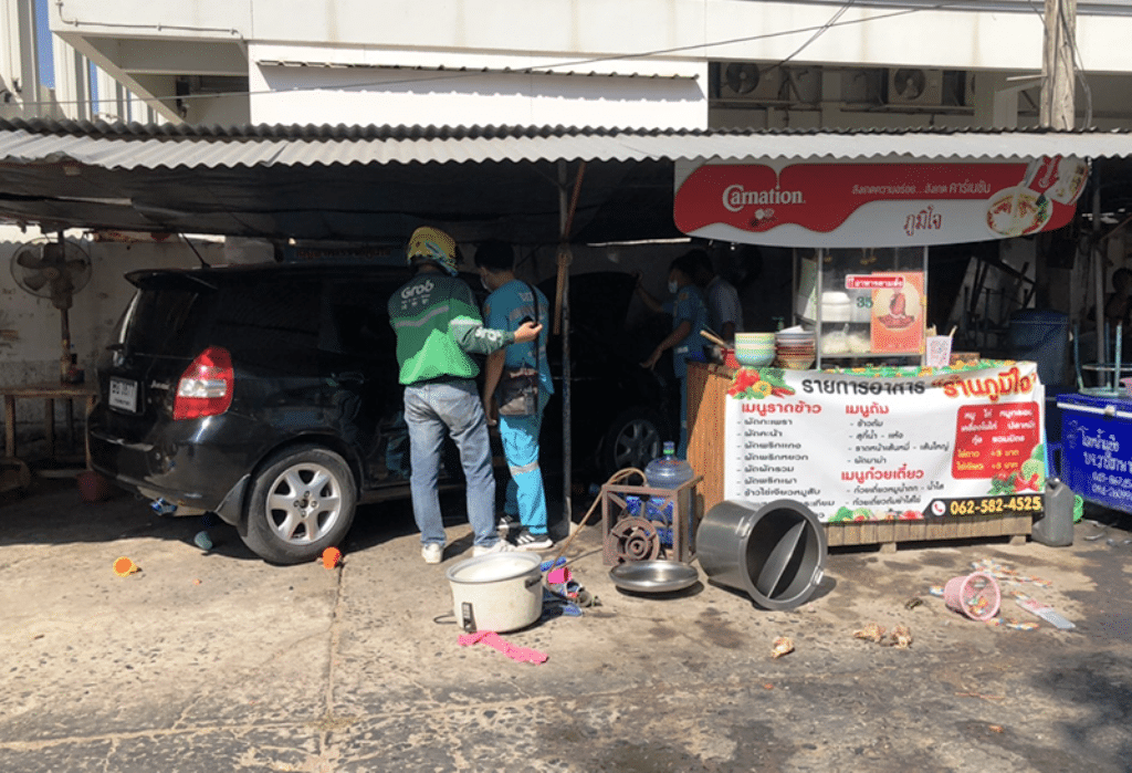 Man Intentionally Rams His Car into Road Side Restaurant Injuring Owners
