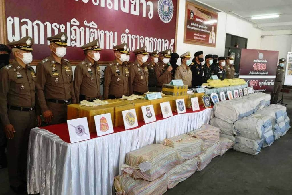 Police Conduct Two Major Drug Seizures in Northern Thailand