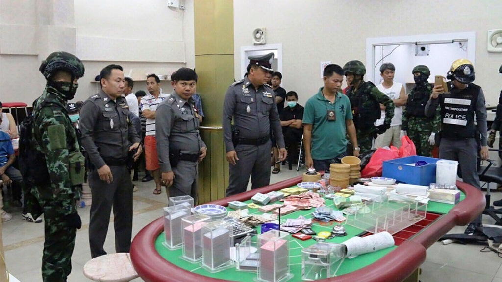 Police and Government Officials Linked Illegal Gambling Dens