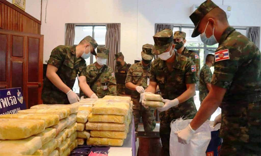 Thai Navy Patrol Seizes 950,000 Meth Pills Along the Mekong River