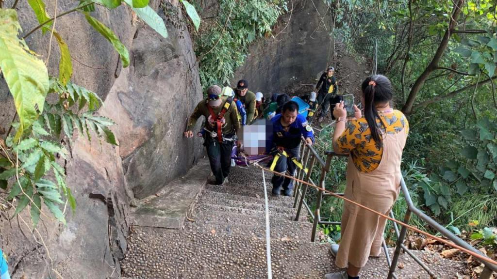 Tourist Dead After Falling off Rock Cliff at Scenic Viewpoint in Nong Khai