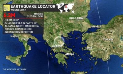 6.3 Magnitude Earthquake Strikes Central Greece