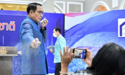 Frustrated Thai Prime Minister Sprays Hand Sanitizer on Reporters
