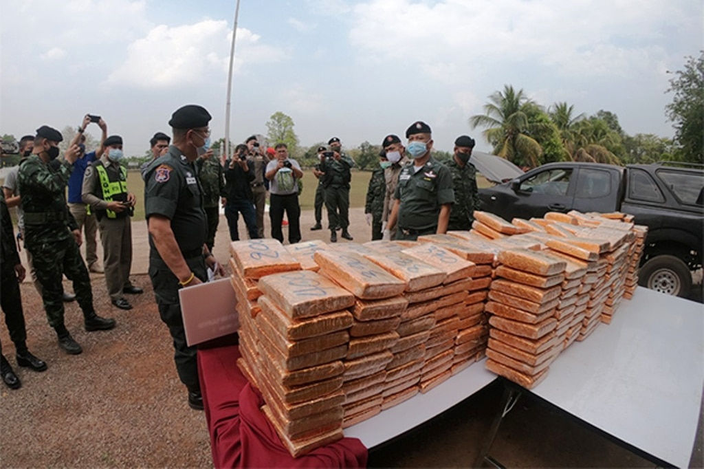 Police Seize 1420 Kilograms of Marijuana in Northeastern Thailand