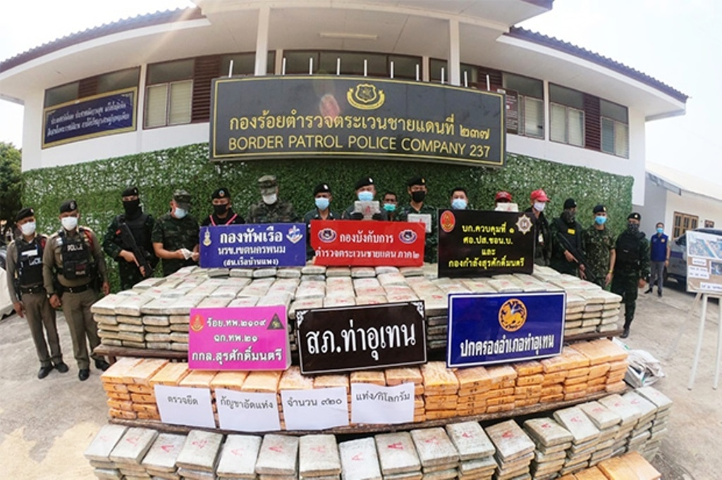 border, Police Seize 1420 Kilograms of Marijuana in Northeastern Thailand