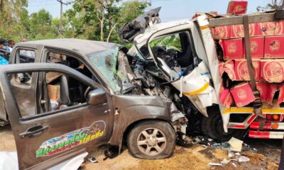 Couple Killed after their Pickup Collided Head-on with a Beer Truck