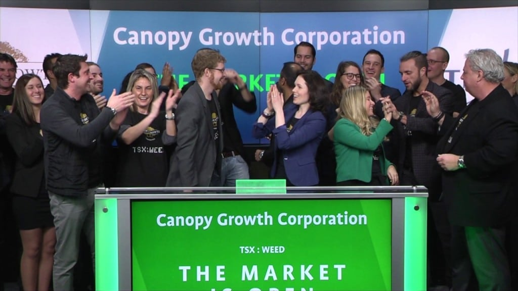 Canopy Growth Stocks Surges 12% as More People Invest into Cannabis