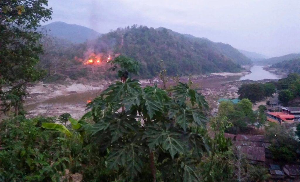 Myanmar, border, Military Launched Air Strikes Along Thai-Myanmar Border