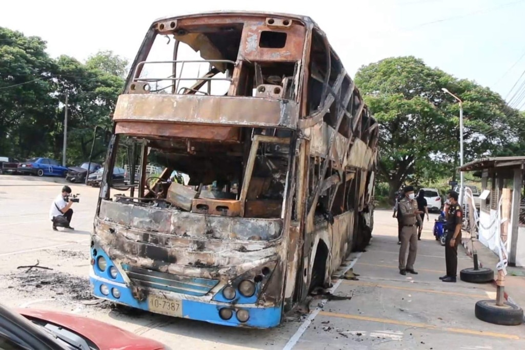 Driver Charged after 5 People Burned Alive in Double-Decker Bus Fire