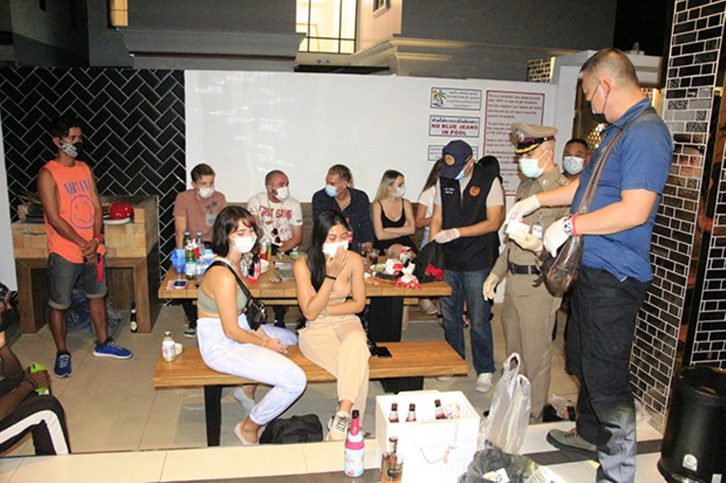 Foreigners arrested for partying in Pattaya