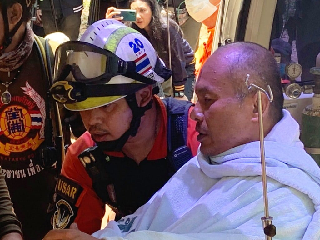 Monk in Northern Thailand Rescued After Being Trapped in Flooded Cave
