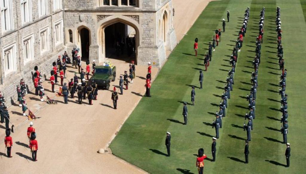 Buglers of the Royal Marines sounded Action Stations