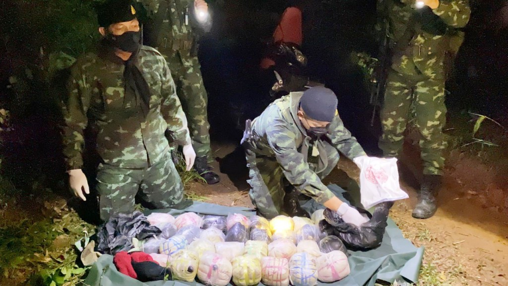 Raw Opium and Heroin Sized By Task Force in Northern Thailand