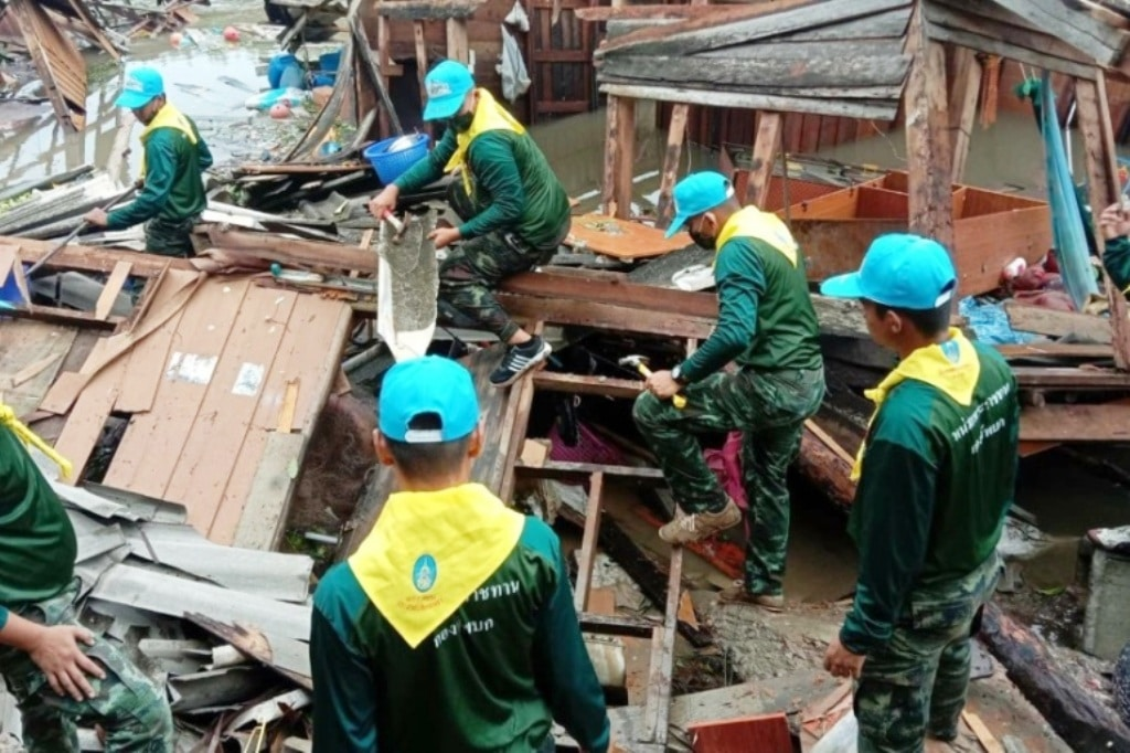 Summer Storms Damage 2900 Homes in Northern Thailand
