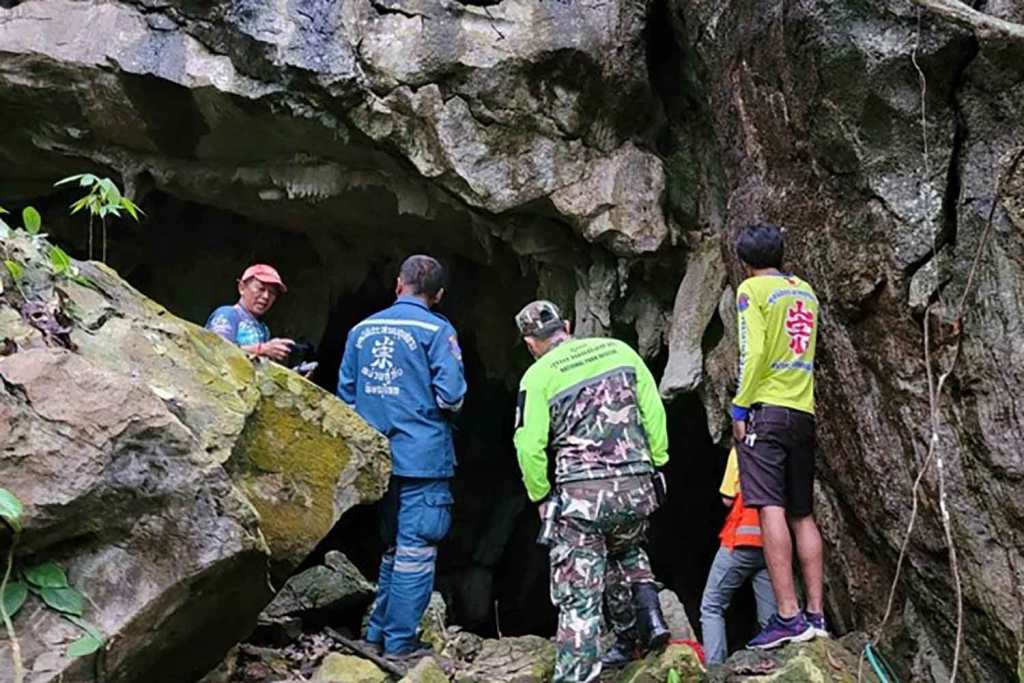 Rescue Workers Struggle to Help Buddhist Monk Trapped Inside Flooded Cave