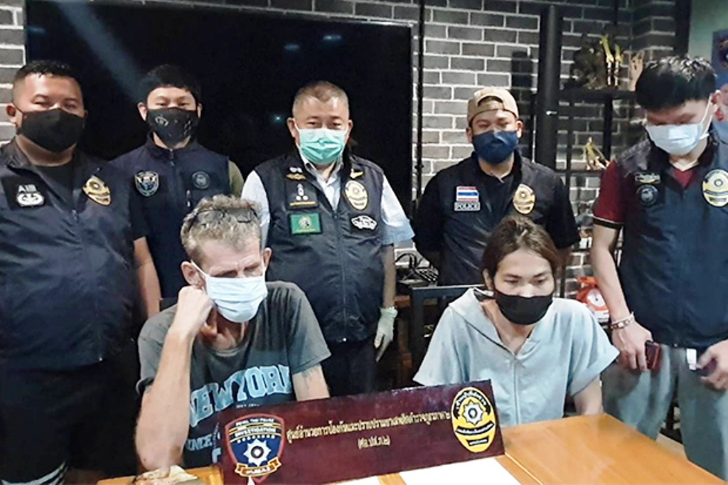German and His Ladyboy Companion Busted for Selling Crystal Meth