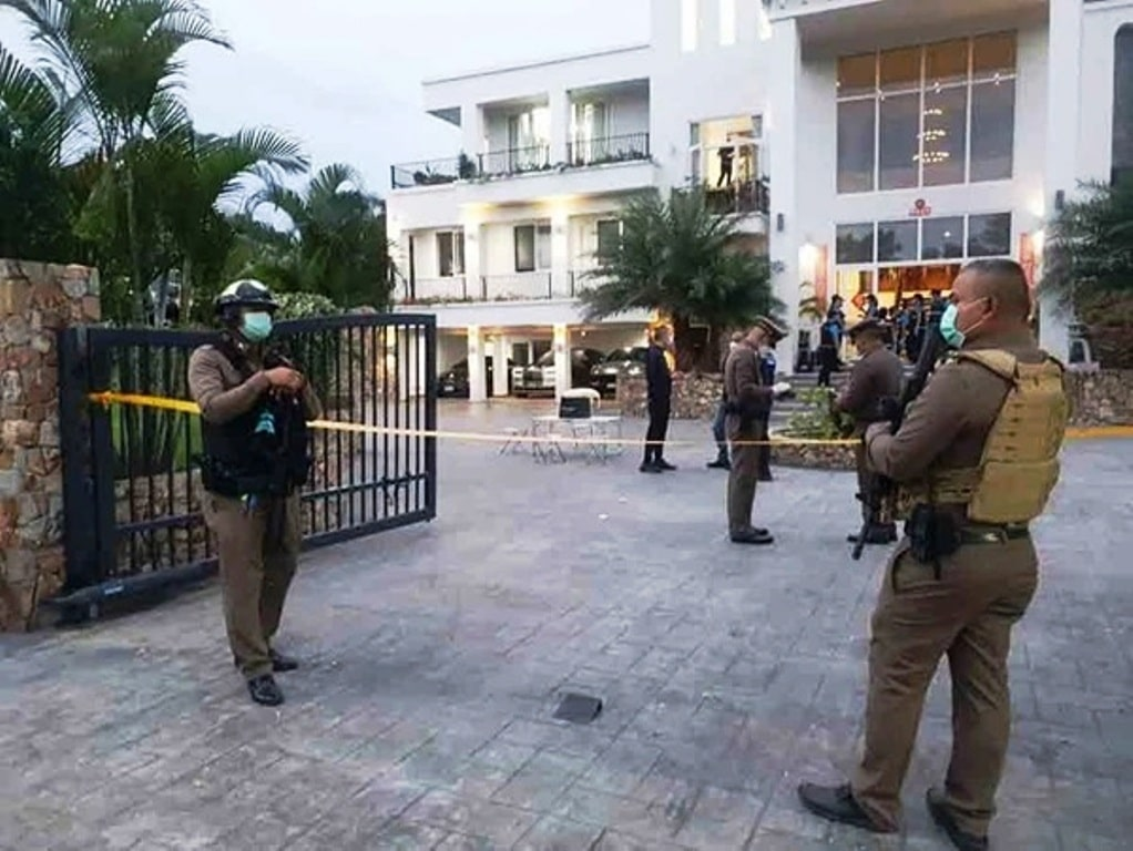 Chinese Man Opens Fire with Machine Gun on Pattaya Police Officers