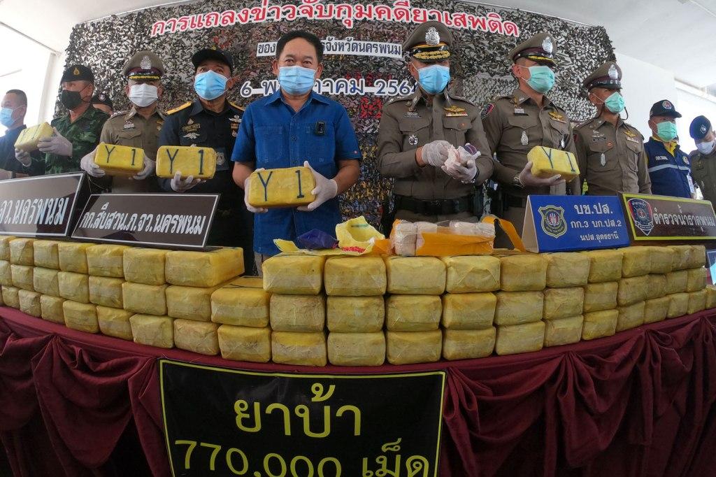 Joint Task Force Seizes 150 Million Baht Worth of Meth Pills