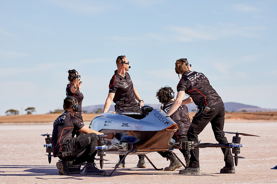 """Worlds First Flying Electric Racing Car """"eVTOL"""" Takes Historic Flight"""