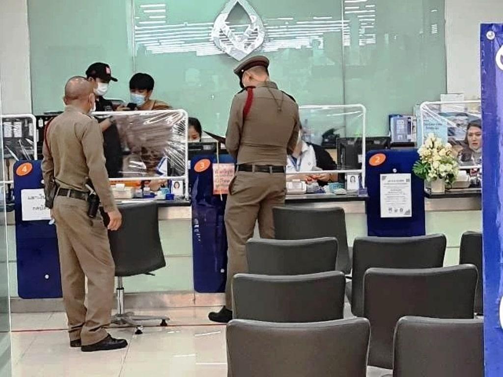 police, Bangkok Bank ,Chiang Ra, tesco lotus