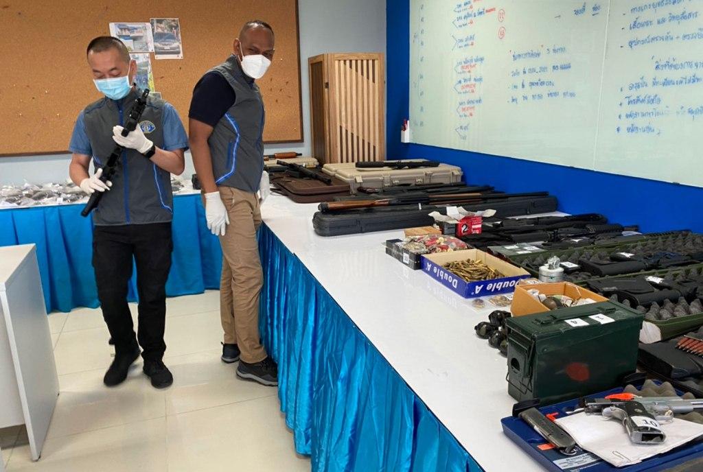 Crime Suppression Police Seize Large Cache Hand Guns and Ammunition