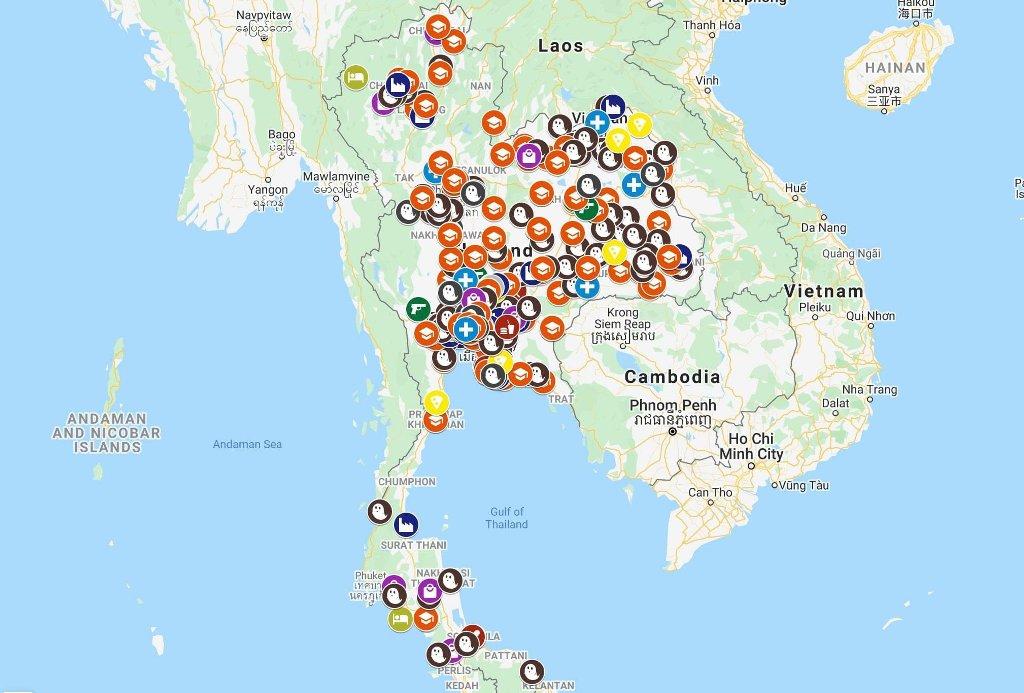 Maps, Google Mpas, Monarchy, Thailand