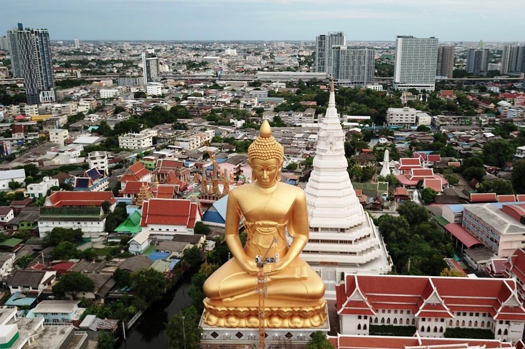 Massive 69 Metre Tall Buddha Statue Nears Completion in Bangkok