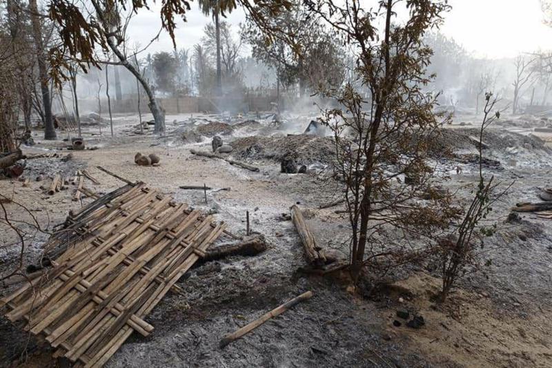 Myanmar Junta Troops Burn an Entire Village to the Ground