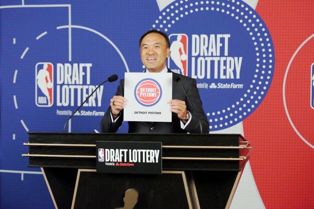 NBA Draft Lottery Detroit Pistons Win Top Pick for 2021