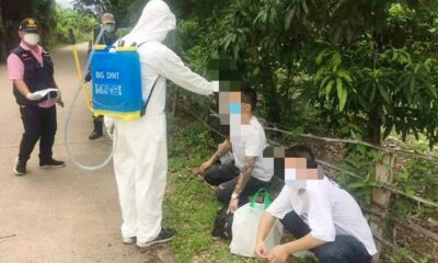police, Soldier Catch Chinese Nationals Evading Quarantine in Northern Thailand
