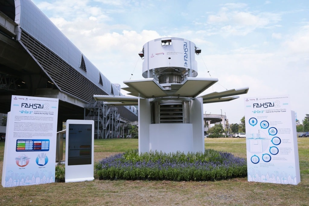 Phayao in Northern Thailand Gets City-Class Air purification Tower
