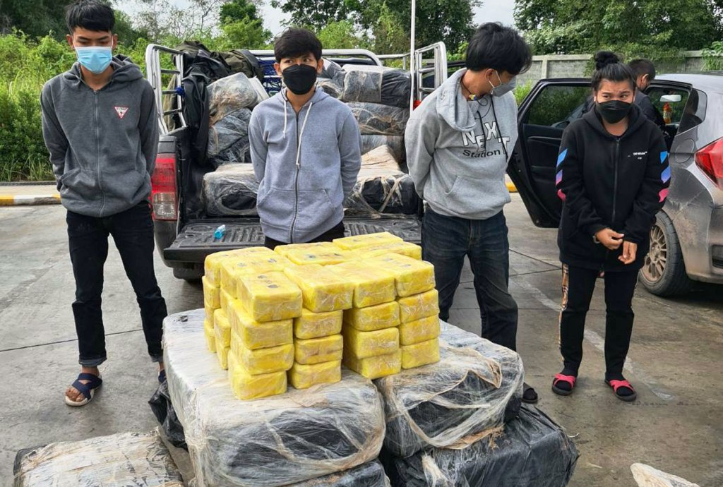 vehicle, police, Drug Syndicate Couriers Caught Transporting Eight Million Meth Pills