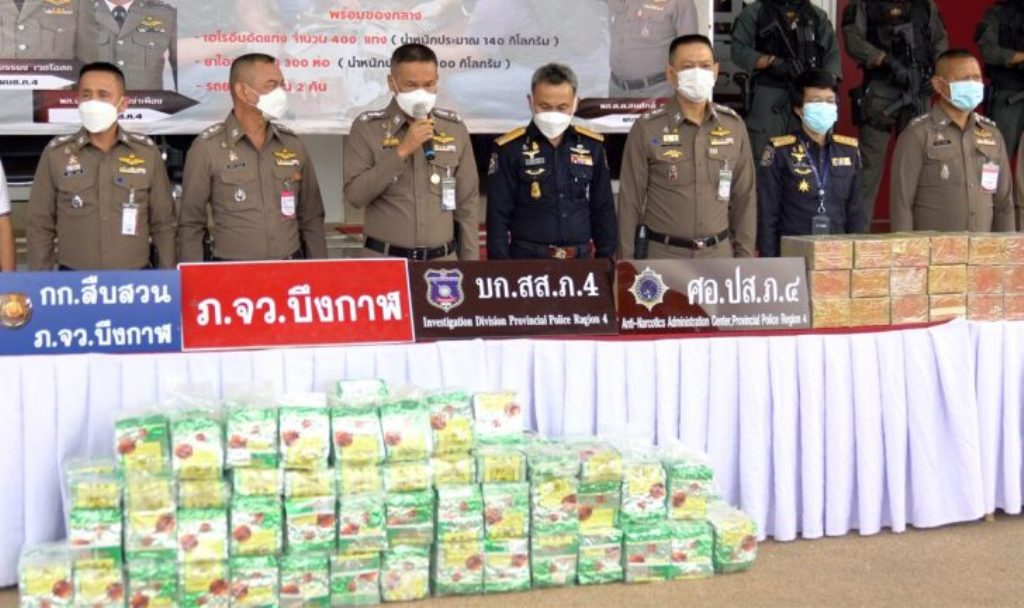truck, Police Seize 140Kg of Heroin, 300 Kg of Meth in Northeastern Thailand