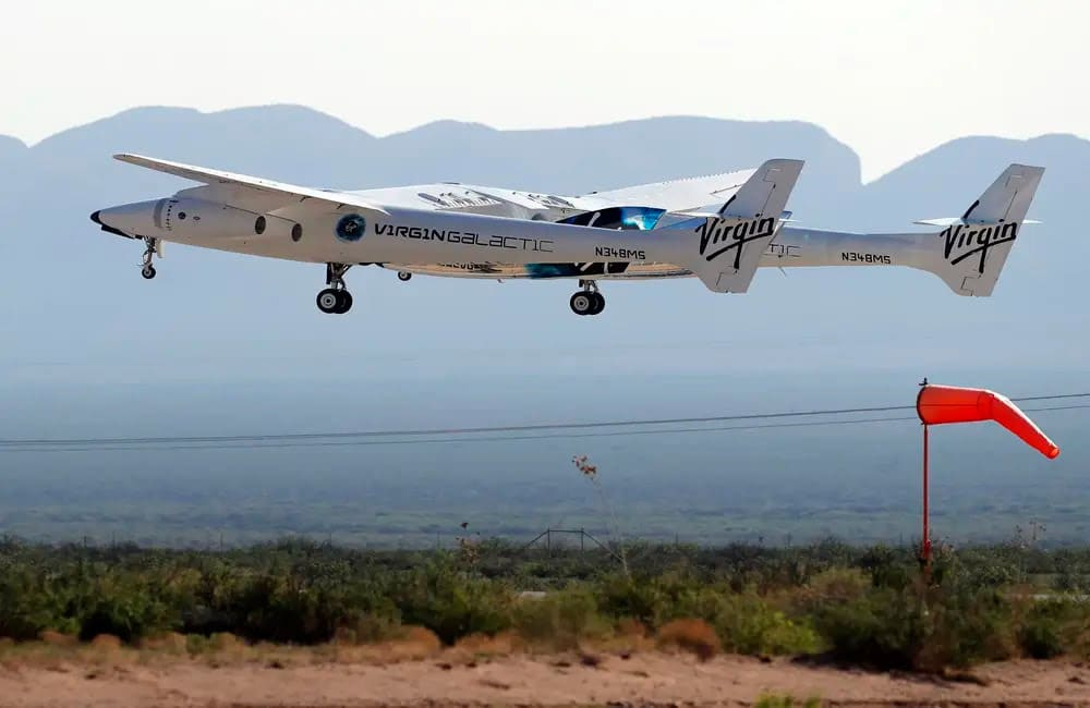 Richard Branson Has Completed A Historic Trip To The Edge Of Space On Virgin Galactic
