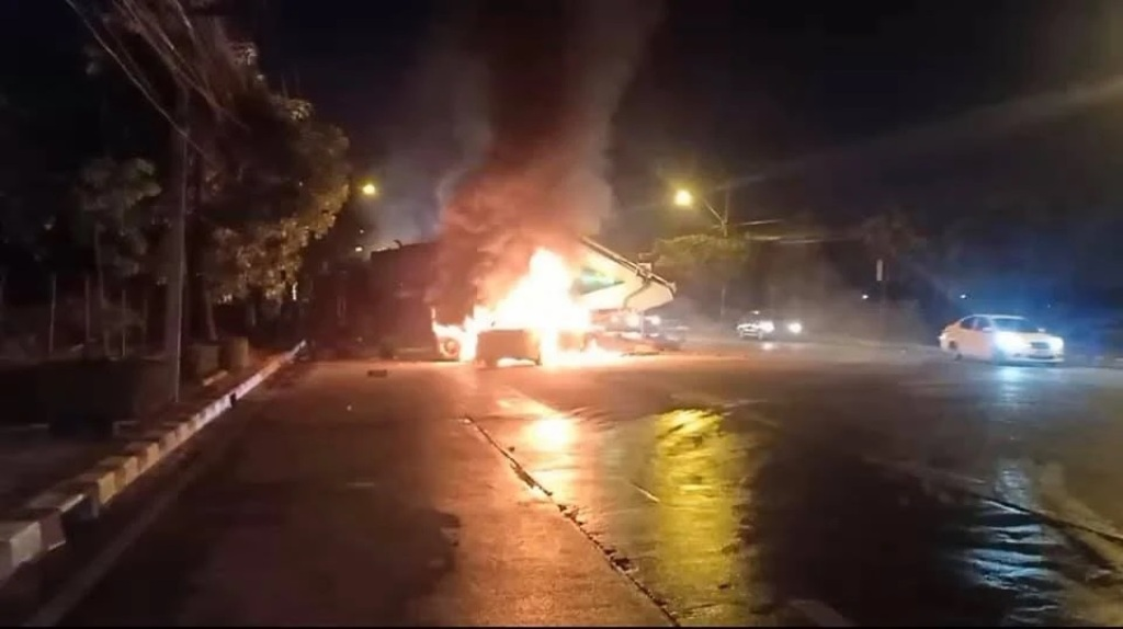 Taxi Cab Driver Burned to Death after His Cab Explodes into Fireball