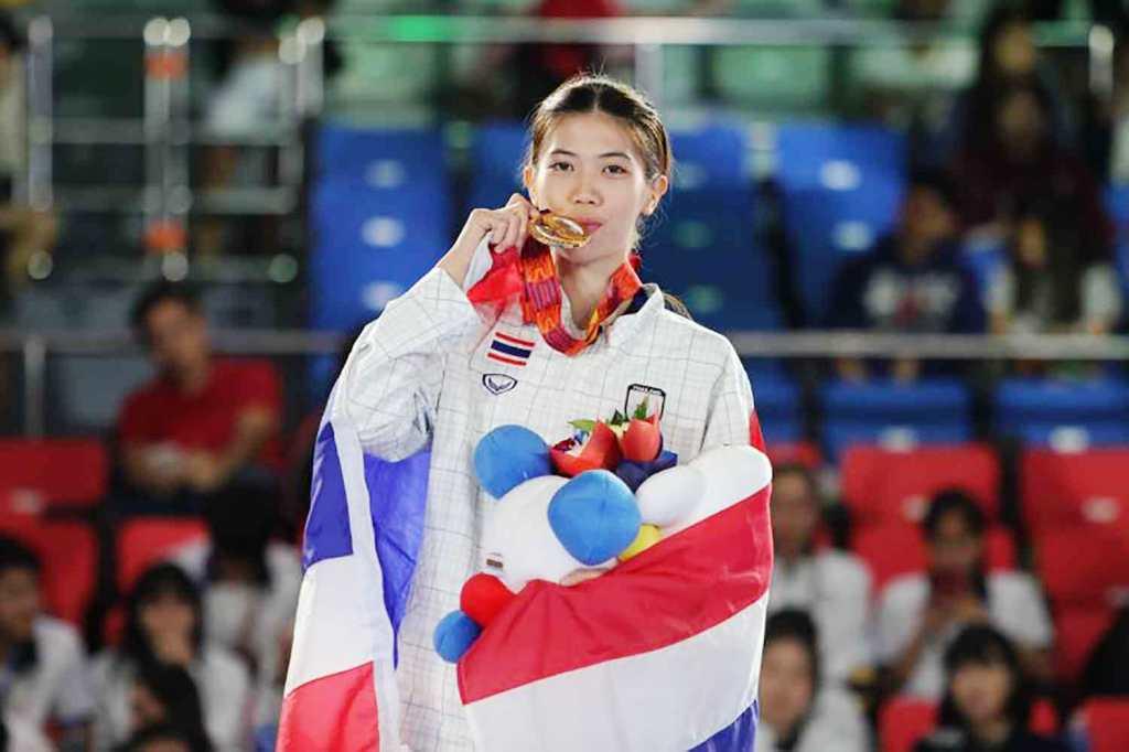 taekwondo , Thailand's Panipak Wongpattanakit Wins Gold at Tokyo Olympics