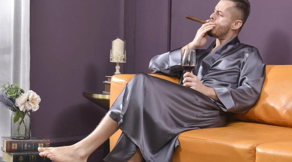 mens real silk pajamas,Slipintosoft