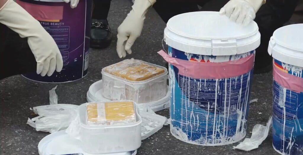 Paint buckets, Thai Customs Authorities Seize 314Kg of Heroin Worth US$29 Million