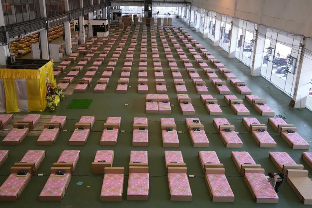 1800 Bed Field Hospital Set Up at Bangkok's Don Mueang Airport
