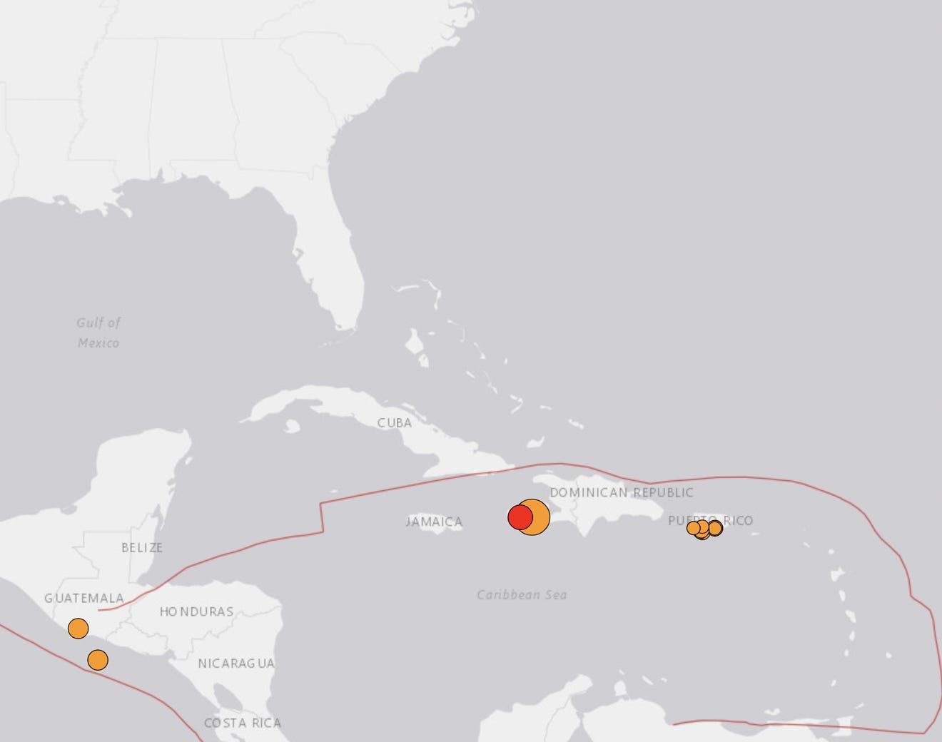 A earthquake hit Haiti on Saturday.