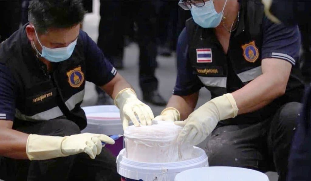 Thailand Narcotics Suppression Police Take Down Heroin Trafficking Gang
