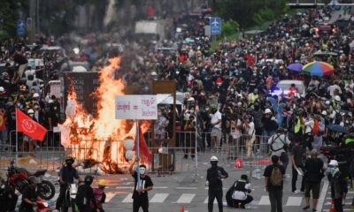 Police Fire Rubber Bullets and Tear Gas at Protesters in Bangkok