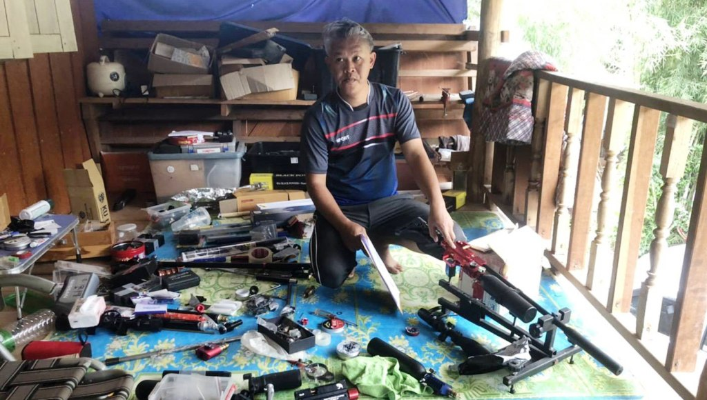 Police in Northern Thailand Gun Trader Selling Weapons Online