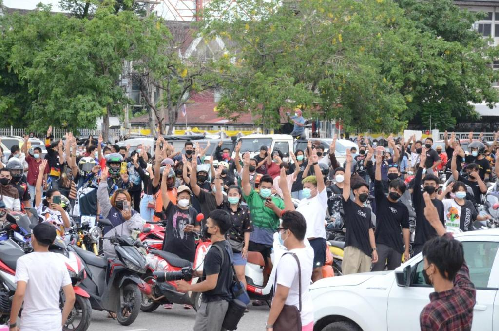 Bangkok, motorcycle, Protesters Nationwide Demand Thai Prime Minister's Resignation
